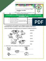 AVALIAÇÃO DE NATUREZA E SOCIEDADE - NOV. 1º ANO.docx
