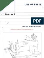 Nakajima TDU N62 parts list
