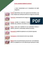GLOSARIO DE LESIONES DERMATOLOGICAS