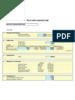 Pavement Design Sheet