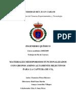 MATERIALES MESOPOROSOS FUNCIONALIZADOS CON GRUPOS AMINO ALTAMENTE SELECTIVOS PARA LA CAPTURA DE CO2