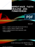 Repentance, Faith Healing and Forgiveness