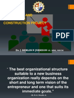 Lecture 6-Organizing and Leading the Construction Project