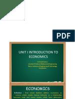 MG 6863 Engg Economics UNIT 1-5