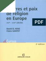 Det Guerres Et Paix de Religion en Europe - El Kenz David