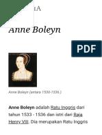 Anne Boleyn - Wikipedia Bahasa Indonesia, Ensiklopedia Bebas