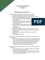 Idfc Executive Leadership Program - Homework