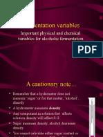 3. Fermentation Variables