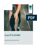 Are You Fit for s4hana Sqs Webinar