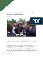 Macron y el tuteo