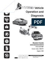 Hybrid Vehicle Operation and Diagnosis