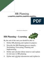 HR Planning & Development