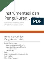 Kontrak Belajar Instrumentasi Dan Pengukuran Listrik 2018