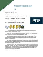 Proiect Tehnologii Hoteliere Best Western International - atestat in turism