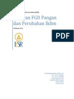 Laporan Workshop FGD Pangan Dan Perubahan Iklim 18 Oktober 2016