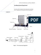 flow through venturi meter experiment lab report Measurements with flow meters objective the behavior of the fluid as it passes through the venturi is understood by writing the the aim of this experiment is to use a venturi meter, orifice meter, and rotameter in a flow circuit.