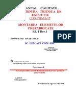 P.T.E. - 01-17 - Montarea Elementelor Prefabricate