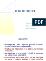 A.radustrategii Didactice
