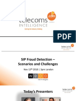SIP FraudDetection WeDo 13.11.2018