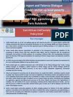 The East African Civil Society Policy Brief on UNFCCC COP24 (Katowice, Poland), November 2018