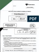 Prova Discursiva Auditor Fiscal RFB
