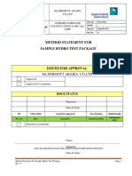 TP-01Hydrostatic Test Cover Sheet
