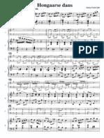 Hongaarse Dans Acc. Piano