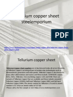 Tellurium Copper Sheet