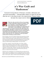 Japan's War Guilt and 'Rashomon' — Quadrant Online