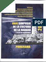 XXIII Simposio de La Cultura de La Habana