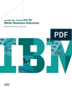 Smarter Analytics for Better Business Out Comes