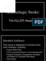 Hemorrhagic Stroke CBL