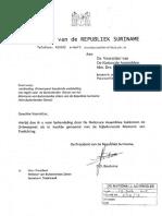 Aanb. Wet Buitenlandse Dienst - Suriname