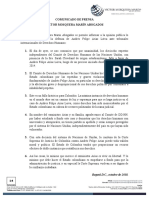 Comunicado de Prensa Andres Felipe Arias Leiva - Firma VMMA