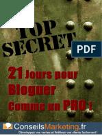 21 Jours Pour Bloguer Comme Un PRO