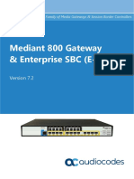 Mediant 800 Gateway and e Sbc Users Manual Ver 72