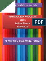 Kewirausahaan andrian rivanda 1218011019 ppt.pptx