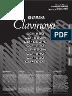 Yamaha Clavinova clp-8** mahual
