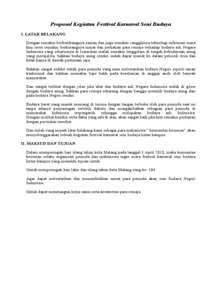 Contoh Proposal Bahasa Indonesia