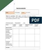 pauta de evaluación 2º básico ciencis veleta