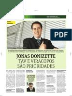 Jonas Donizette concede entrevista ao jornal Metro