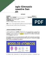 SINTESIS II PERIODO  7°. MODELOS ATOMICOS Y METODO CIENTÍFICO.