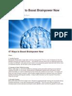 5K 47 Ways to Boost Brainpower Now