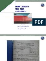 Draft , Trim, Hog-Sag & Density Correction - AISI- Presentation