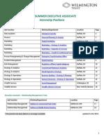 2019 SEA Internship Position Descriptions
