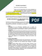 Evidencia Percepción de Las TIC Informe