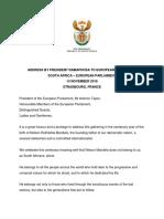 Ramaphosa's Address