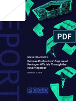 Defense Contractors Capture of Pentagon Officials Through the Revolving Door