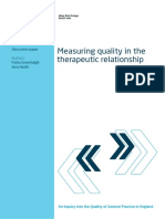 Quality Therapeutic Relationship Gp Inquiry Discussion Paper Mar11