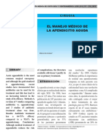 Manejo Clinico de La Apendicitis